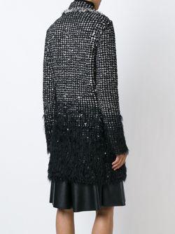 Твидовое Пальто Lanvin                                                                                                              черный цвет