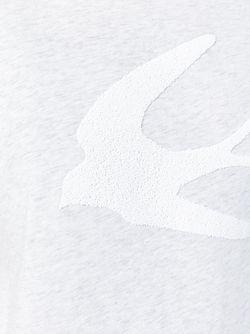Футболка С Аппликацией Ласточек Mcq Alexander Mcqueen                                                                                                              серый цвет