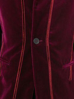 Бархатный Пиджак С Воротником-Стойкой Haider Ackermann                                                                                                              красный цвет