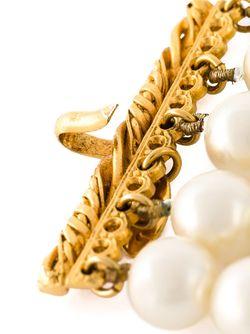 Браслет Из Искусственного Жемчуга Chanel Vintage                                                                                                              белый цвет