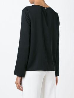 Блузка С Длинными Рукавами Armani Collezioni                                                                                                              чёрный цвет