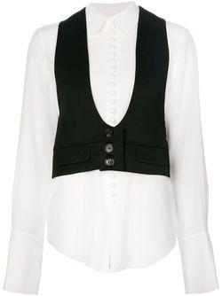 Рубашка С Вставкой В Виде Жилет Chloe                                                                                                              белый цвет