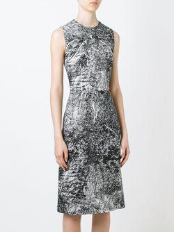 Trompe Loeil Print Dress Mcq Alexander Mcqueen                                                                                                              черный цвет