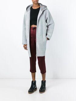 Пальто С Капюшоном T By Alexander Wang                                                                                                              серый цвет