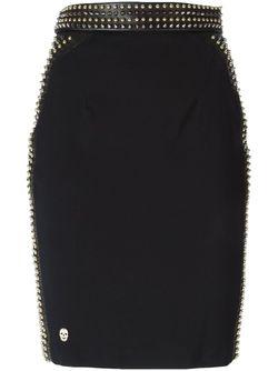 Юбка Rose Philipp Plein                                                                                                              черный цвет