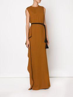 Вечернее Платье С Поясом Lanvin                                                                                                              коричневый цвет