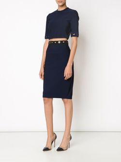Eyelet Pencil Skirt Mugler                                                                                                              синий цвет