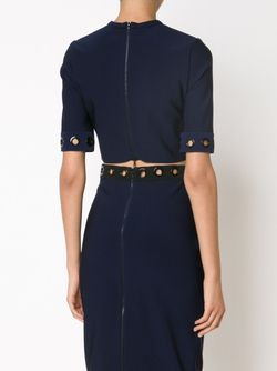 Cropped Eyelet Top Mugler                                                                                                              синий цвет