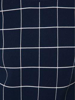 Клетчатый Свитер Derek Lam                                                                                                              синий цвет