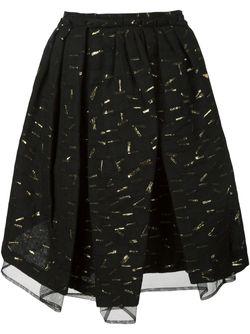 Плиссированная Пышная Юбка С Отделкой Comme Des Garçons Noir Kei Ninomiya                                                                                                              чёрный цвет