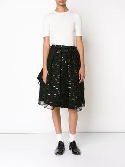 Плиссированная Пышная Юбка С Отделкой Comme Des Garçons Noir Kei Ninomiya                                                                                                              черный цвет