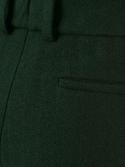 Укороченные Широкие Брюки Jil Sander                                                                                                              зелёный цвет
