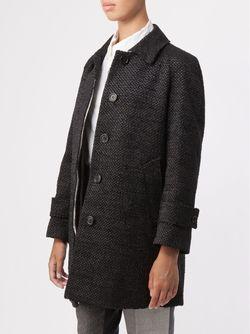 Твидовое Пальто Thom Browne                                                                                                              чёрный цвет