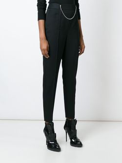 Chain Detailed Cropped Trousers Alexander Wang                                                                                                              черный цвет