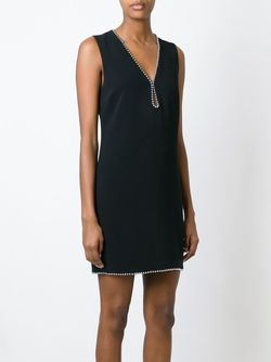 Платье Мини C V-Образным Вырезом Alexander Wang                                                                                                              чёрный цвет