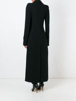 Приталенное Пальто С Разрезом Haider Ackermann                                                                                                              черный цвет