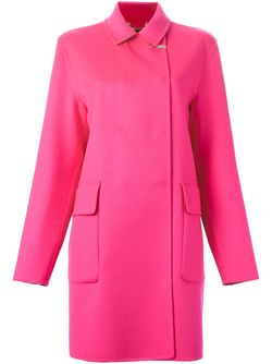 Пальто Со Смещенной Застежкой Versace                                                                                                              розовый цвет