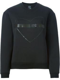 Толстовка С Изображением Сердца Mcq Alexander Mcqueen                                                                                                              чёрный цвет