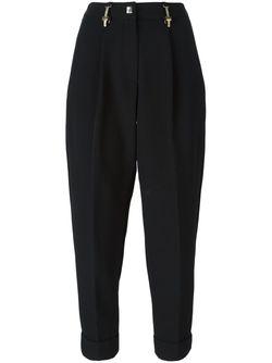 Брюки Кроя Слим С Завышенной Талией Versace Collection                                                                                                              черный цвет