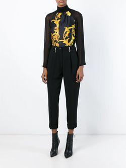 Блузка С Принтом Барокко Versace Collection                                                                                                              чёрный цвет