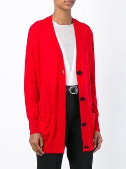 Buttoned Long Cardigan Forte Forte                                                                                                              красный цвет