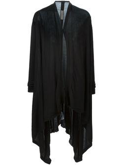 Длинный Кардиган С Запахом Rick Owens                                                                                                              черный цвет