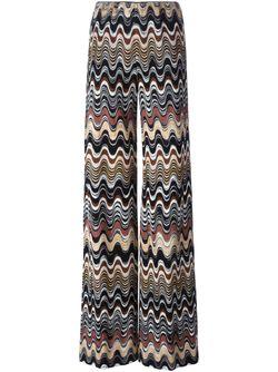 Широкие Брюки С Зигзагообразным Узором Missoni                                                                                                              Nude & Neutrals цвет