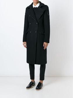 Двубортное Пальто Свободного Кроя Amen                                                                                                              чёрный цвет