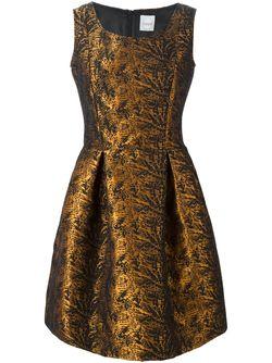 Парчовое Платье Andrian Eggs                                                                                                              черный цвет