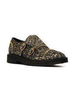 Туфли Монки С Отблеском Giuseppe Zanotti Design                                                                                                              серебристый цвет