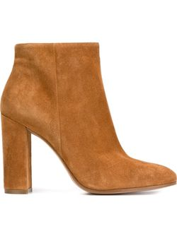 Ботинки По Щиколотку На Массивном Каблуке Gianvito Rossi                                                                                                              коричневый цвет