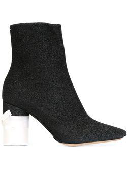 Ботинки На Контрастном Каблуке Maison Margiela                                                                                                              черный цвет