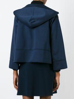 Укороченная Толстовка На Молнии С Капюшоном Moncler                                                                                                              синий цвет