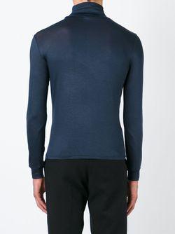 Свитер-Водолазка Raf Simons                                                                                                              синий цвет