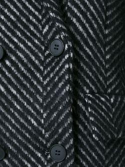 Пальто В Елочку DKNY                                                                                                              черный цвет