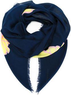Шарф С Цветочным Принтом Christopher Kane                                                                                                              синий цвет