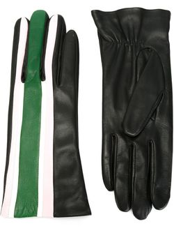 Перчатки В Полоску Christopher Kane                                                                                                              черный цвет