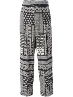 High Waisted Printed Trousers Etro                                                                                                              чёрный цвет
