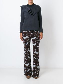 Intarsia Flower Trousers Marni                                                                                                              синий цвет