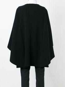 Пальто-Накидка На Пуговицах Alberta Ferretti                                                                                                              чёрный цвет
