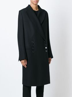 Двубортное Пальто Ann Demeulemeester                                                                                                              черный цвет