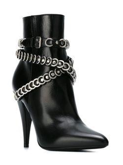 Fetish Ankle Boots Saint Laurent                                                                                                              чёрный цвет