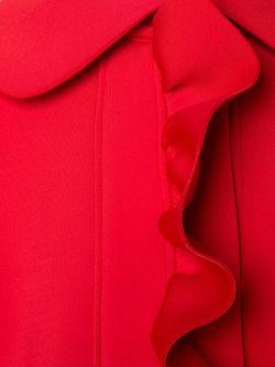Свободное Пальто С Рюшами NICOPANDA                                                                                                              красный цвет