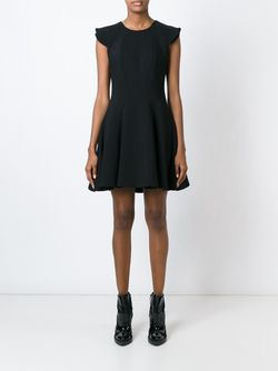 Короткое Расклешенное Платье Alexander McQueen                                                                                                              черный цвет