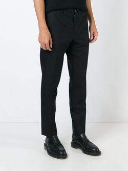 Брюки В Елочку Dolce & Gabbana                                                                                                              чёрный цвет