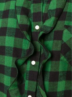 Платье-Рубашка В Клетку Red Valentino                                                                                                              зелёный цвет