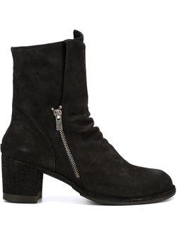 Ботинки Varda На Массивном Каблуке Officine Creative                                                                                                              черный цвет
