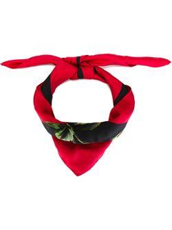 Шарф С Принтом Роз Dolce & Gabbana                                                                                                              чёрный цвет
