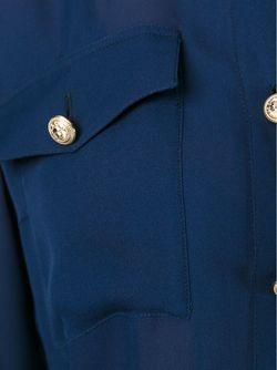 Прозрачная Рубашка Balmain                                                                                                              синий цвет