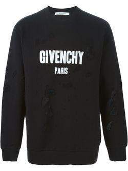 Толстовка С Рваными Деталями Givenchy                                                                                                              чёрный цвет